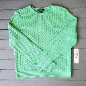 NWT sherbert green Ralph Lauren sweater